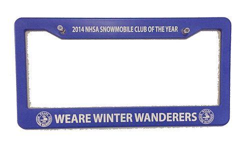 NHSA Club of the Year License Plate Frame