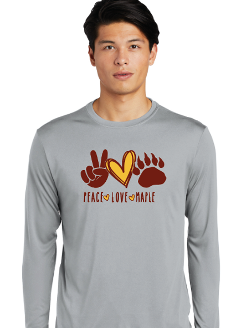 Adult/Youth st350ls Peace Love Performance Long sleeve