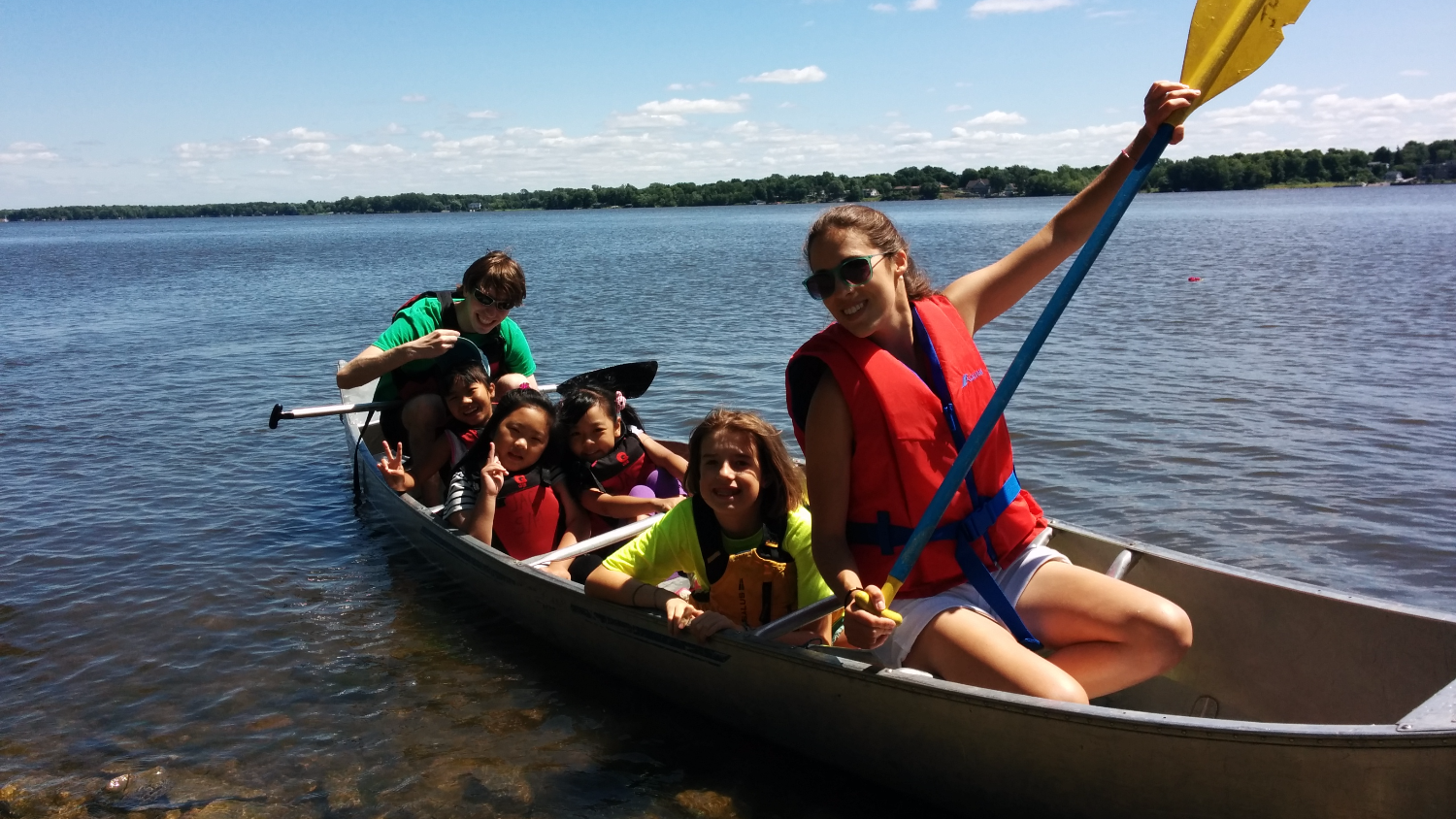 camp ecolart canoeing