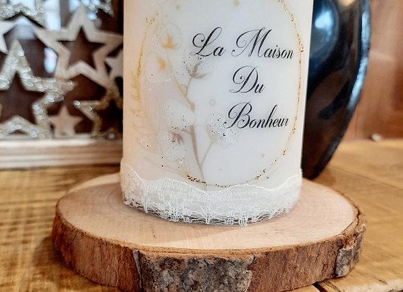 """Bougie """" La maison du bonheur """""""
