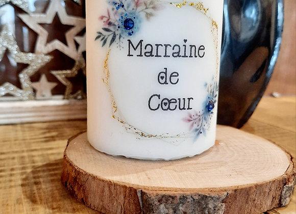 "Bougie "" Marraine de coeur """