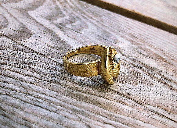 Bague coquillage perle