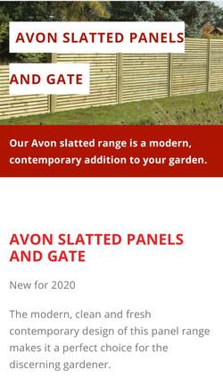 Avon Single Slatted Contemporary Panels