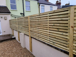Wall Mounted  Double Slatted Contemporar
