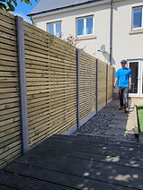DOUBLE SLATTED Contemporary Panel with Concrete Posts & Gravel Boards Pic2.jpg