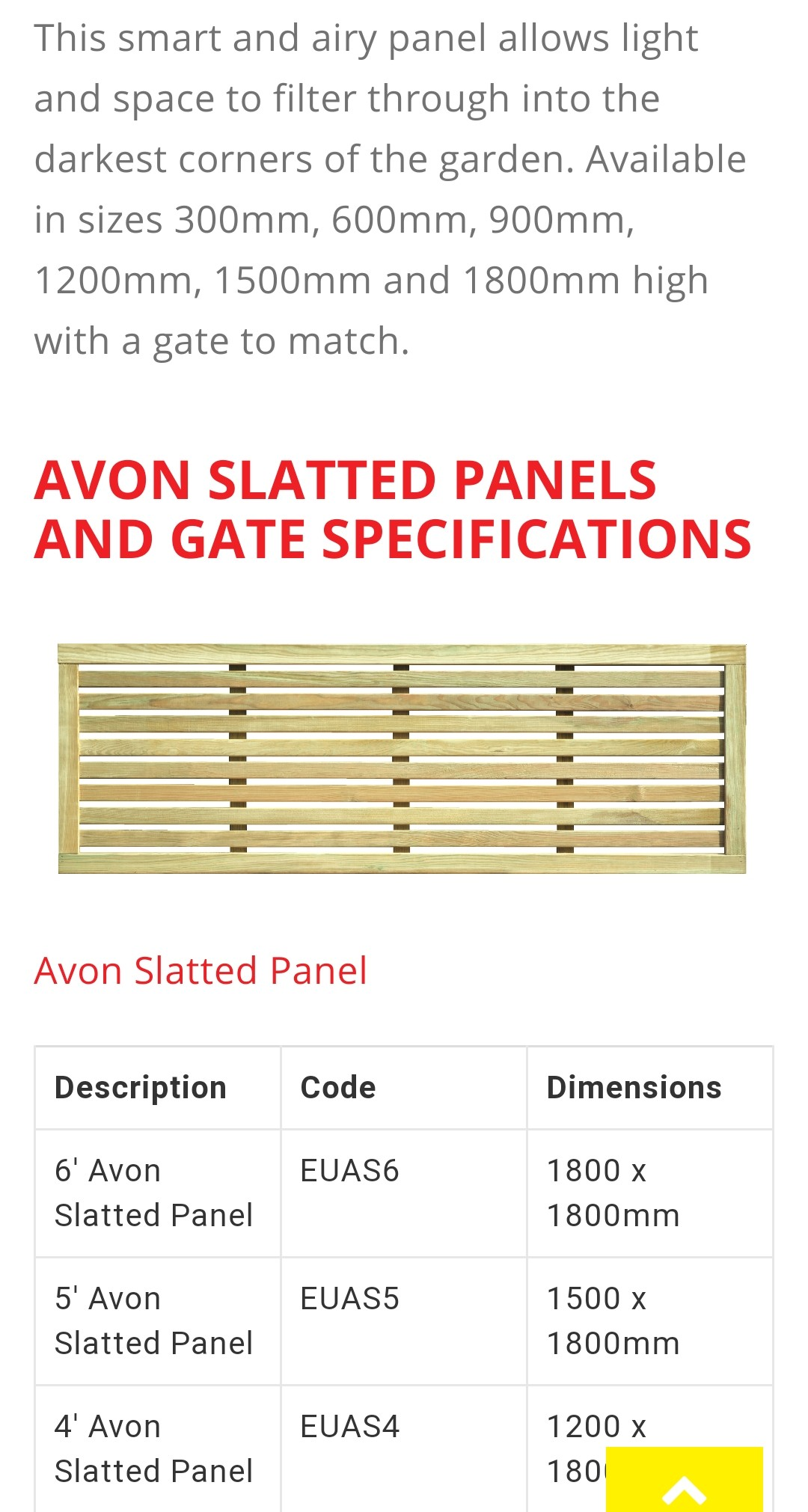 Avon Single Slatted Contemporary Panels
