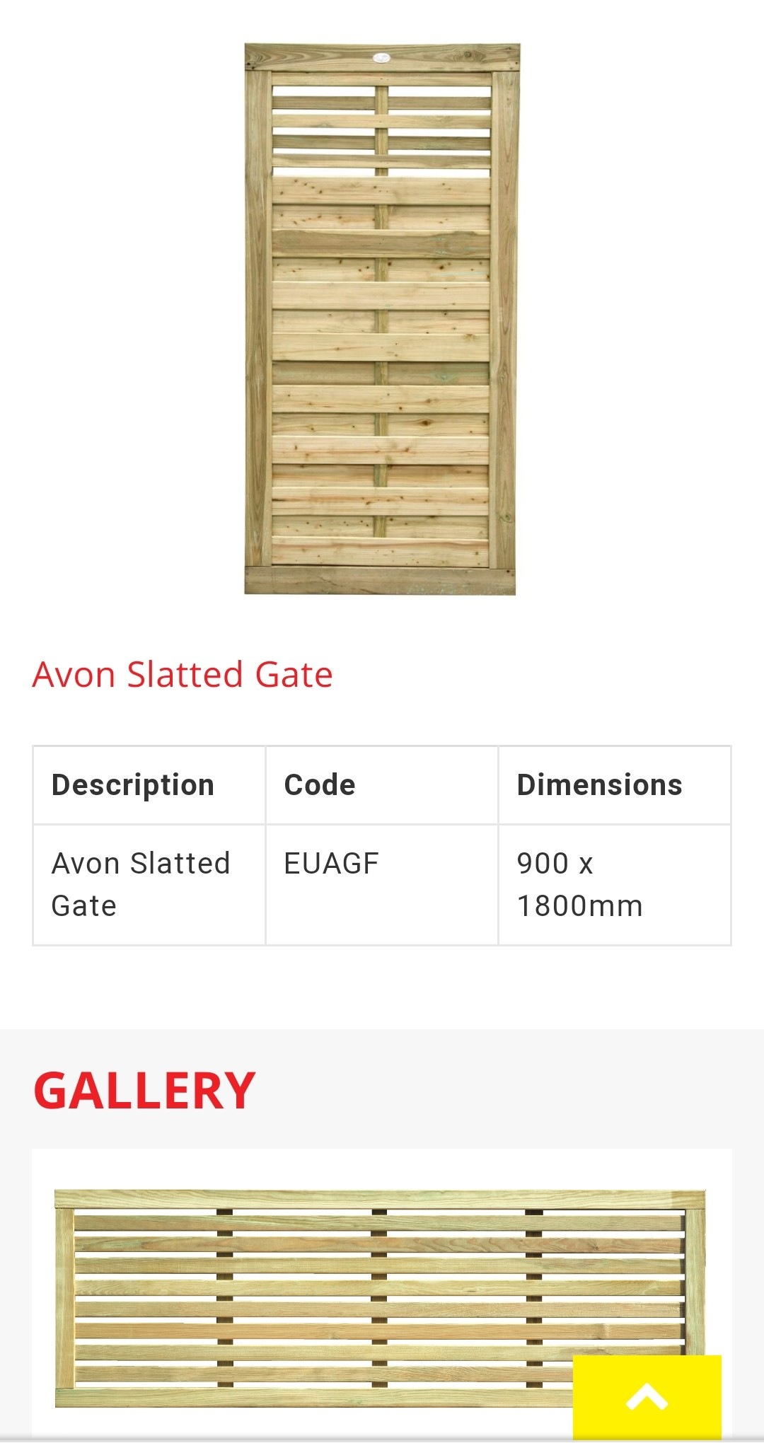 Avon Slatted Contemporary Matching Gate.