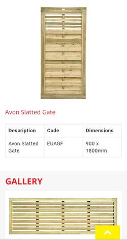 Avon Slatted Contemporary Matching Gate.