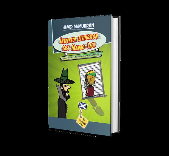 Inspektor Livingston, Comedy Krimi, Hörbuch, Jochen Malmsheimer, Jarod McMurran, Schottland Krimi, Edinburgh, Krimi, Buchmesse, Catfuggle, Inspektor Livingston jagt Mambo-Jack, Britischer Humor, Dark Humor