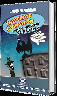 Inspektor Livingston, Comedy Krimi, Hörbuch, Jochen Malmsheimer, Jarod McMurran, Schottland Krimi, Edinburgh, Krimi, Buchmesse, Catfuggle, Inspektor Livingston und der würgende Schlunz, Britischer Humor, Dark Humor, schräg