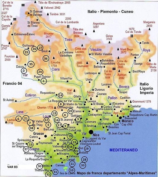 carte-des-alpes-maritimes-italien -Numer