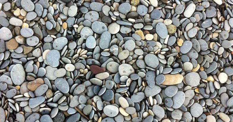 Géologie à la plage, la Siesta, Antibes