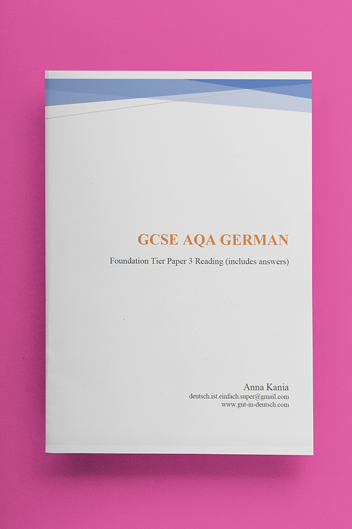 GCSE German Reading Foundation Tier