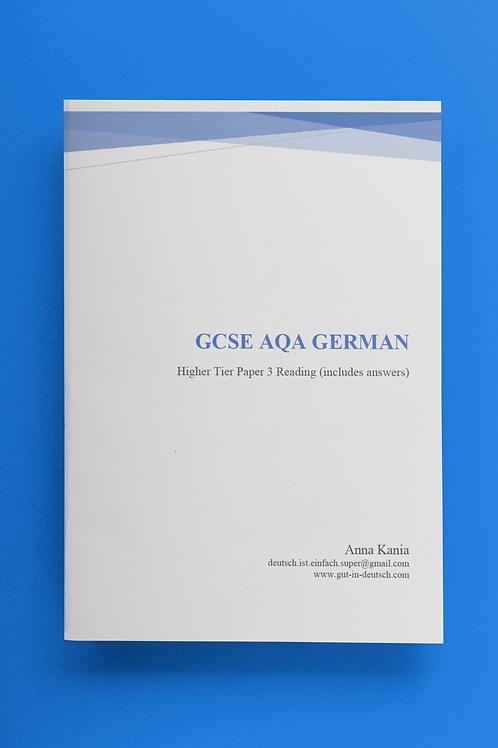 GCSE German Reading Higher Tier