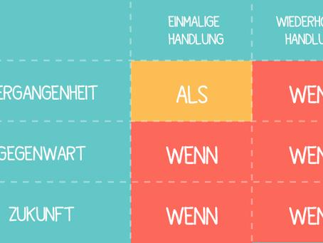 """Die Subjunktionen """"wenn"""" und """"als"""""""