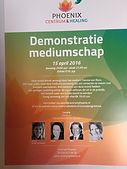Demonstratie Mediumschap Raadhuis Vleuten met mediums: Mercedes Sharrocks, Lisette Lucas, Yvonne van Bezu en Wilco van Leeuwen