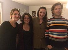 Mercedes Sharrocks, Annemarie Raaijmakers, Lisette Lucas en Wilco van Leeuwen