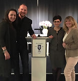 Lisette Lucas, Edwin van der Hoeven, Cindy Fornari en Diana Stoet in The Treehouse te Delft