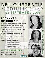 Demonstratie Mediumschap kerk Op Hodenpijl met mediums Lisette Lucas, Kitty Woud en Frank Osinga