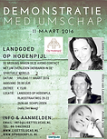 Demonstatie mediumschap kerk Op Hodenpijl met mediums Lisette Lucas, Wilco van Leeuwen en Annika Vos