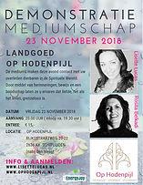 Demonstratie Mediumschap Op Hodenpijl met mediums Lisette Lucas en Rosita Belkadi