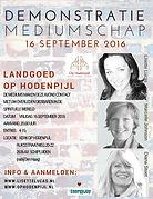 Demonstratie Mediumschap Kerk Op Hodenpijl met mediums Lisette Lucas, Marcelle Weevers en Diana Stoet