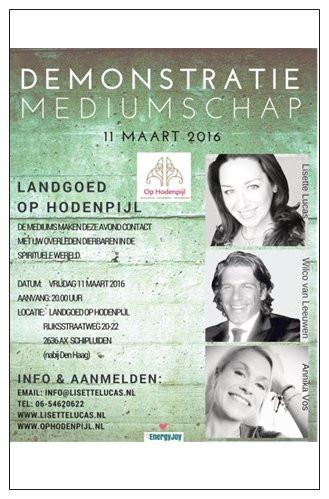 De flyer van 11 maart 2016