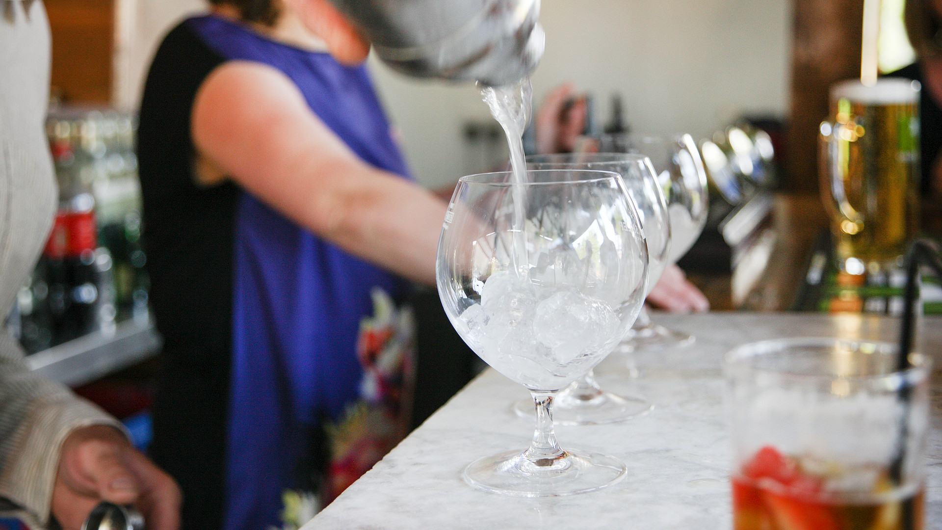 cocktails from pavilion bar