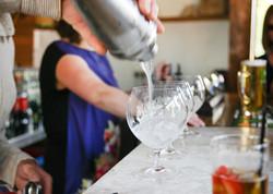 Cocktails in the pavilion bar