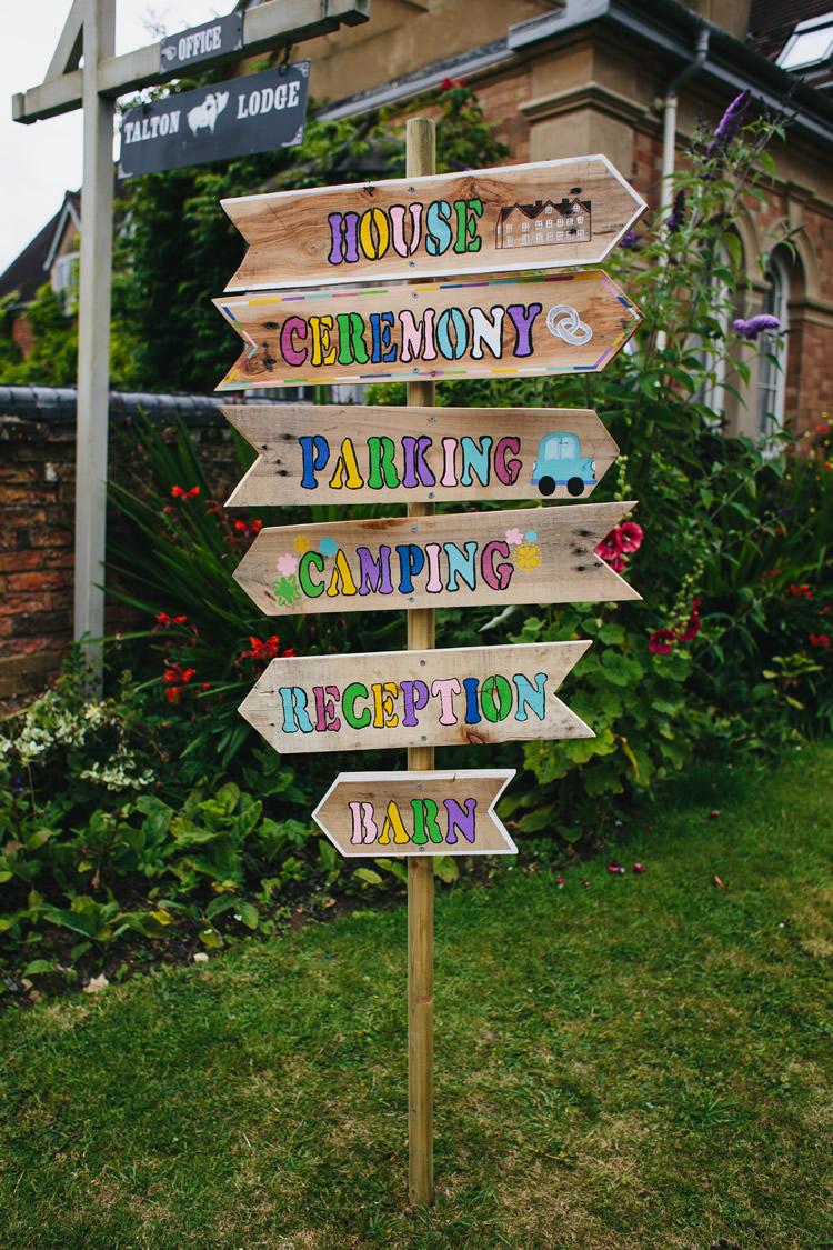 Festival wedding directions