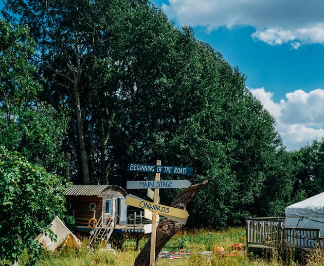 tree-boathouse and yurt