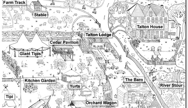 Talton House and Talton Lodge overview drawing