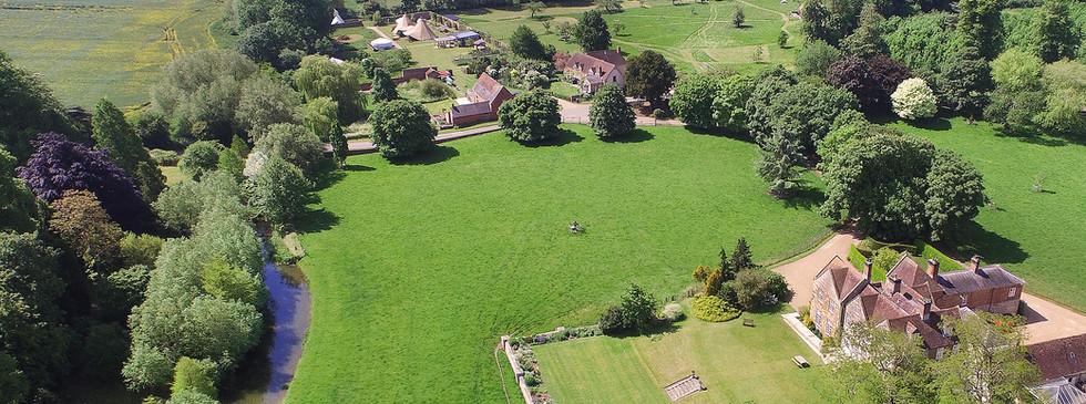 Talton House & Talton Lodge Kitchen Garden and Barn in distance