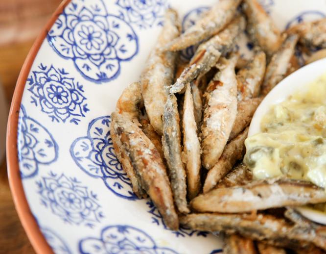 Talton House and Talton Lodge fried sardines with soul