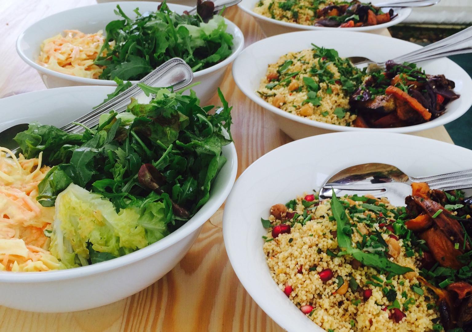 Talton Lodge salads ready to eat