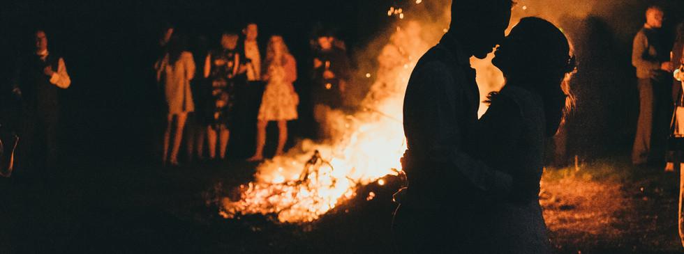 A fire at a wedding