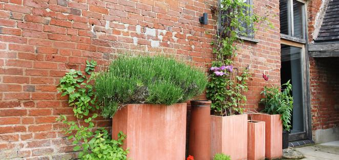 Terrace outside the barn