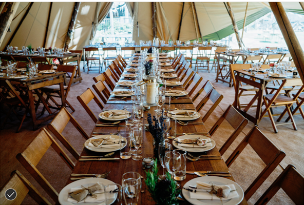 Tables in the tipi