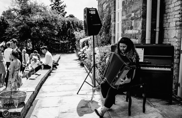 music on the terrace at Talton House