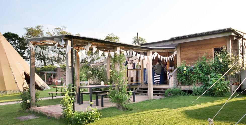 pavilion with pergola bar