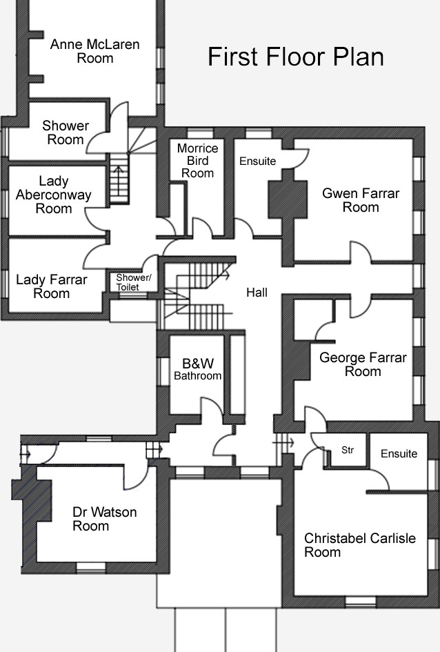 Talton House first floor plan