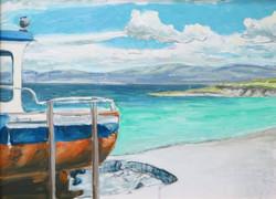 Dingle Bay Harbor, County Kerry, Ireland.jpg 16 in.jpg x 20 in.jpg Oil on board.jpg $200.jpg Sold