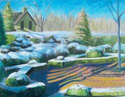 Henry Clay Gardens (first snow).jpg  11_ x 14_.jpg  Oil on canvas.jpg  2008.jpg SOLD