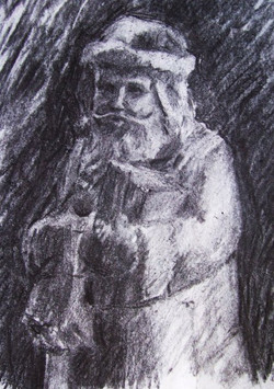 Father Christmas.jpg  Charcoal on paper
