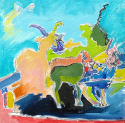Burren. 12 in. x 12 in. Oil on canvas