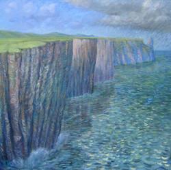 Cliffs of Moher.jpg 36 in x 36 in.jpg Oil on Linen.jpg $400