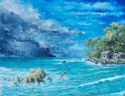 Stormy Paradise V.jpg  36 in.jpg x 48 in.jpg  Acrylic on Canvas.jpg  2009.jpg  $800.jpg  SOLD