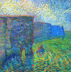 Cliffs of Moher (a tribute to Vincent).jpg  Oil on canvas.jpg 30 in.jpg x 30 in.jpg $300