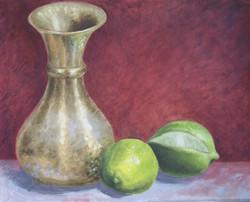 Still Life with Vase and Limes.jpg  oil on gessoboard.jpg  16 in x 20 in.jpg  2007.jpg  $400.jpg00.j