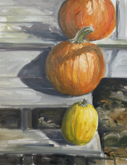 Winter Pumpkins.jpg Oil on canvas.jpg 16 in.jpg x 20 in.jpg $200